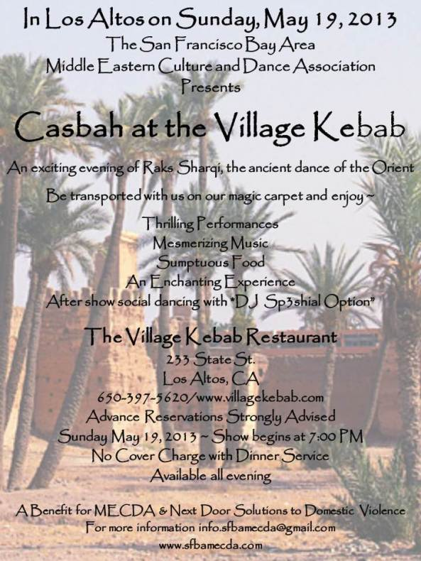 Casbah at the Village Kebab Window Poster