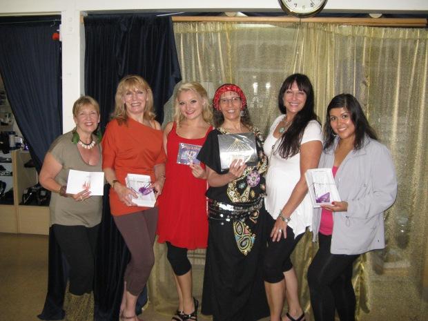Raffle Winners L-R Safiyah, Sabiba, Poppy, Jahmra, Linah, and Raja